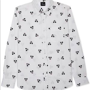 UNISEX Disney Mickey Mouse Button Down Shirt